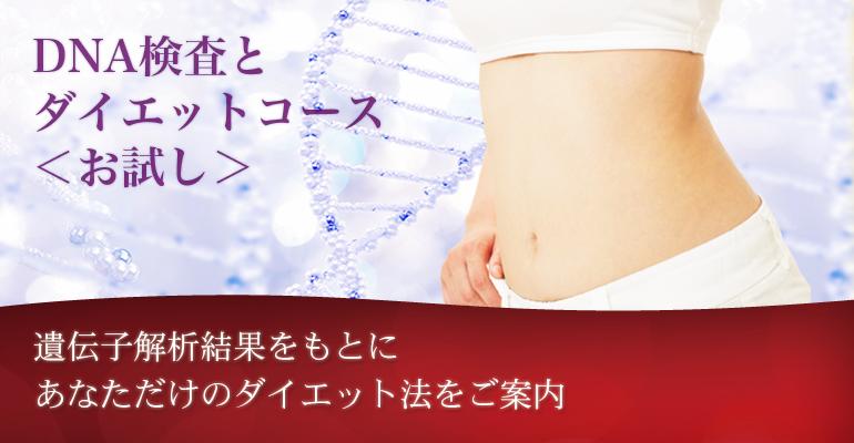 DNA検査+ダイエットコース